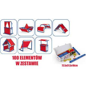 Игровой констуктор домик Keter Megado сине-красный 17200123 стол keter futura 17197868