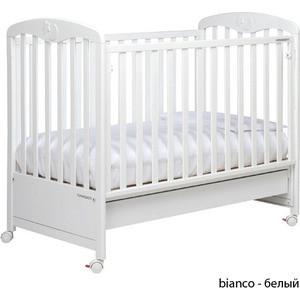 Кроватка Foppapedretti Luccichino автостенка/ колесо/ящик Bianco - белый
