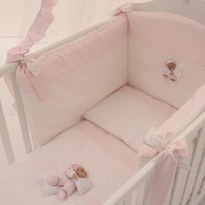 Комплект в кроватку 4 предмета NaNan Puccio розовый 12417R карман на кроватку bombus светик розовый