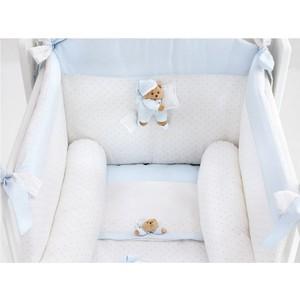 Комплект в кроватку 4 предмета NaNan Puccio светло-голубой 12417A комплект в кроватку 4 предмета nanan puccio светло голубой 12417a
