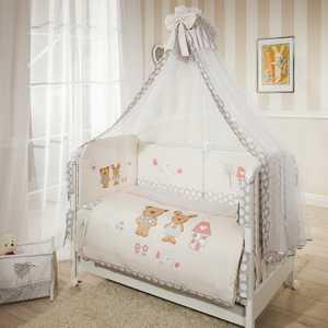 Фотография товара комплект в кроватку 7 предметов Perina Венеция Лапушки Бежевый В7-02.2 (434428)