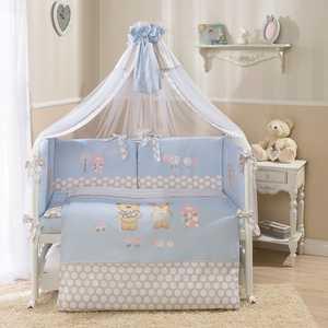 Комплект в кроватку 4 предмета Perina Венеция голубой В4-02.4 комплект в кроватку perina венеция 3 предмета три друга белый кпв3 0328в3 01 2