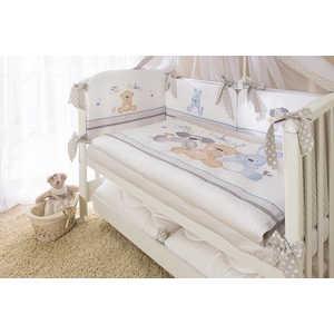 Фотография товара комплект в кроватку Perina ''Венеция Три Друга'' бежевый 4 предмета (В4-01.2) (434442)