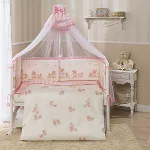 Фотография товара комплект в кроватку 4 предмета Perina Тифани Неженка розовый Т4-01.3 (434444)