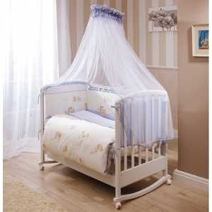 Фотография товара комплект в кроватку 4 предмета Perina Тифани Неженка голубой Т4-01.4 (434445)