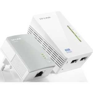 Комплект адаптеров Powerline TP-LINK TL-WPA4220KIT принт сервер tp link tl ps110p