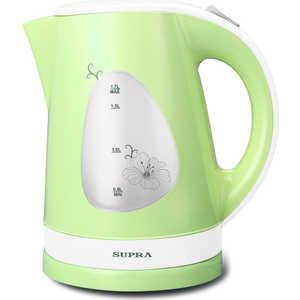 Чайник электрический Supra KES-1708, белый/фисташковый supra kes 2009 электрический чайник