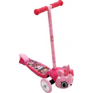 Самокат REXCO 3-х колесный 3D Кошечка Пиччи розовый HPG017