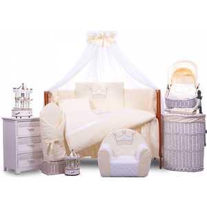 Комплект в кровать Tuttolina 6 предметов Princess бежеый 6HD/94