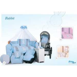 Комплект в кровать Tuttolina 6 предметов Rabbit розовый 6HD/84 цена 2017