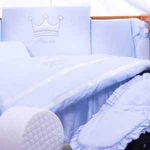 Комплект постельного белья Tuttolina 3 предмета Princess голубой 3HD/96