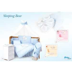 Комплект постельного белья Tuttolina 3 предмета Sleeping Bear розовый 3HD/52 tuttolina sleeping bear 6hd 52 розовый