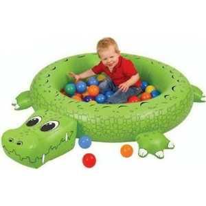 Надувной сухой бассейн Urright Крокодил 50 шаров OT7020J
