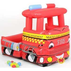 Надувной сухой бассейн Urright Пожарная машина + 50 шаров OT7022J