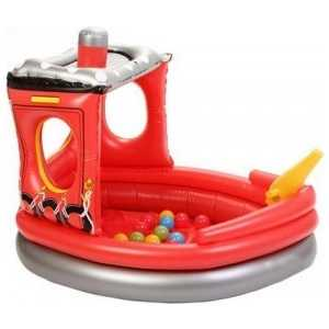 Надувной сухой бассейн Urright Пожарный катер 50 шаров OT7023J