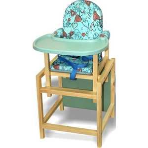 Стульчик для кормления ВИЛТ СТД 07 пластиковая столешница бирюзовый СТД0702 вилт малыш синий стд0308