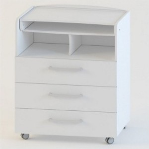 Фотография товара комод Атон М с пеленальным столиком Браво ЛДСП белый КР80/3 (436463)