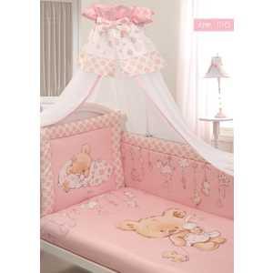 Комплект в кровать Золотой гусь 7 предметов Мика сатин розовый 1116