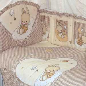Комплект в кровать Золотой гусь 7 предметов Степашка бежевый 1923