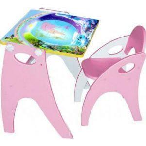 Набор мебели Интехпроект Части света парта-мольберт стульчик розовый 14-356 мольберт smoby двухсторонний складной розовый