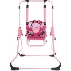 Качели напольные со съёмным поручнем Tako Animals Zoo Слон розовый WGHBUFI20WAELEpink