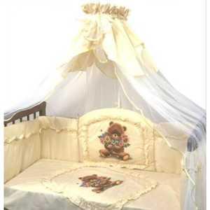 Бортик в кроватку Золотой гусь Аленка желтый 4013