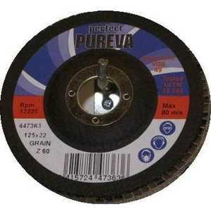Круг лепестковый торцевой PUREVA 125х22.2мм К80 (497383)