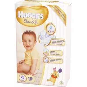 Подгузники Huggies ''Elite Soft'' 4 (8-14кг) 19 шт 9400814