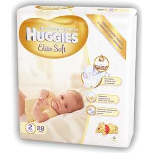"Подгузники Huggies ""Elite Soft"" 2 (4-7кг) 88 шт 90535338"