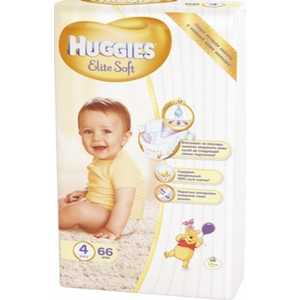 Подгузники Huggies Elite Soft 4 (8-14кг) 66 шт 9400824 inov 8 футболка base elite lsz w xl barberry