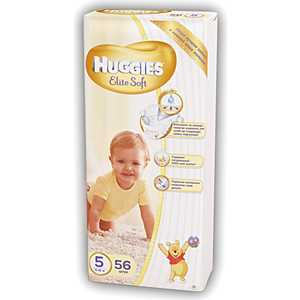 "Подгузники Huggies ""Elite Soft"" 5 (12-22кг) 56 шт 9400825"