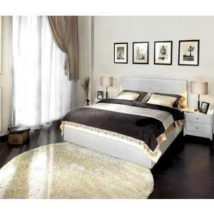 Кровать Аскона Greta 160х200 к/з White (Без основания) кровать аскона greta двуспальная 200x140 иск кожа цвет коричневый