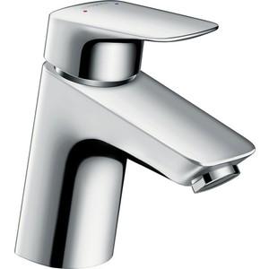 Смеситель для раковины Hansgrohe Logis 70 мм без донного клапана (71071000) держатель туалетной бумаги hansgrohe logis 40526000