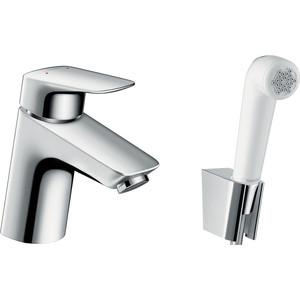 Смеситель для раковины Hansgrohe Logis 70 мм с гигиеническим душем (71290000) держатель туалетной бумаги hansgrohe logis 40526000