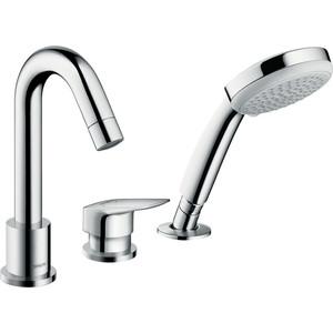 Смеситель для ванны Hansgrohe Logis на 3 отверстия для 13439180 (71313000) держатель туалетной бумаги hansgrohe logis 40526000