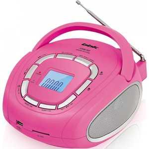 Магнитола BBK BS05 pink/silver