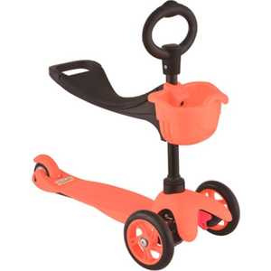 Самокат 3-х колесный 21st Scooter с сиденьем Maxi Scooter красный SKL-06B leshp 200mm folding height adjustable foot scooter two rounds wheels outdoor double damping push adult kick scooter from russia