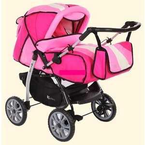 Коляска трансформер Jetem Alice темно-розовый/светло-розовый/серый AL4 коляска трансформер jetem turbo 4s ice berry
