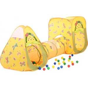 Игровой домик Bony Конус и Квадрат с туннелем с шариками (100 шаров) LI524