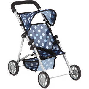 Коляска для кукол Melobo прогулочная 9304D синий/Круги melobo коляска трость для кукол летняя с ремнем безопасности melobo