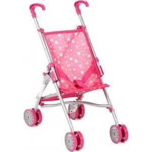 Коляска для кукол Melobo трость розовый/сердечки S9307
