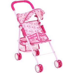 Коляска для кукол прогулочная Игруша розовый/сердечки 816A