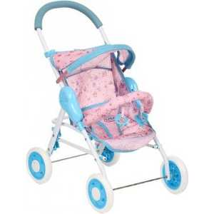 Коляска для кукол прогулочная Игруша розовый/голубой 8580