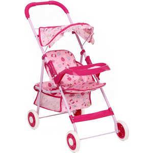 Коляска для кукол прогулочная Игруша розовый/конфетки 9866T коляски для кукол игруша 9866t