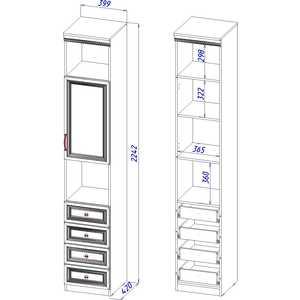 Шкаф пенал с 4-мя ящиками ВасКо Лира 104 от ТЕХПОРТ
