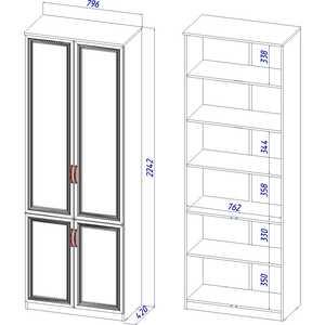 Шкаф 4-х дверный ВасКо Лира 110 от ТЕХПОРТ