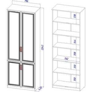 Шкаф 4-х дверный ВасКо Лира 111 от ТЕХПОРТ