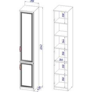Шкаф-пенал 2-дверный ВасКо Лира 114 от ТЕХПОРТ