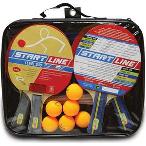Фотография товара набор теннисный Start Line ракетки Level 200 4шт, мячи Club Select 6шт, сетка с креплением (442764)
