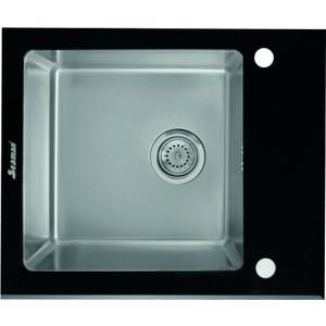 Мойка кухонная Seaman Eco Glass SMG-610B вентиль-автомат (SMG-610B.B) qianrong b 610 b 610